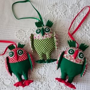 Новогодняя игрушка из ткани Сова