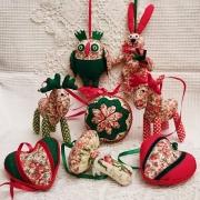 Набор новогодних игрушек из ткани