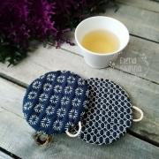 Подставка под чашки с вышивкой Сашико Хитомидзяси